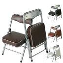1脚販売 折りたたみチェア 小さい椅子 折りたたみイス パイプイス パイプ椅子 折畳み椅子 スチール製 完成品 全4色 2.5キロ ちょいがるチェア