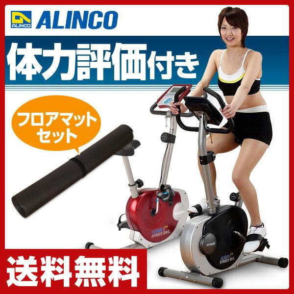 アルインコ(ALINCO) エアロマグネティックバイク&フロアマット お買い得セット AF6200/EXP100 エクササイズバイク フィットネスバイク マット付 【送料無料】