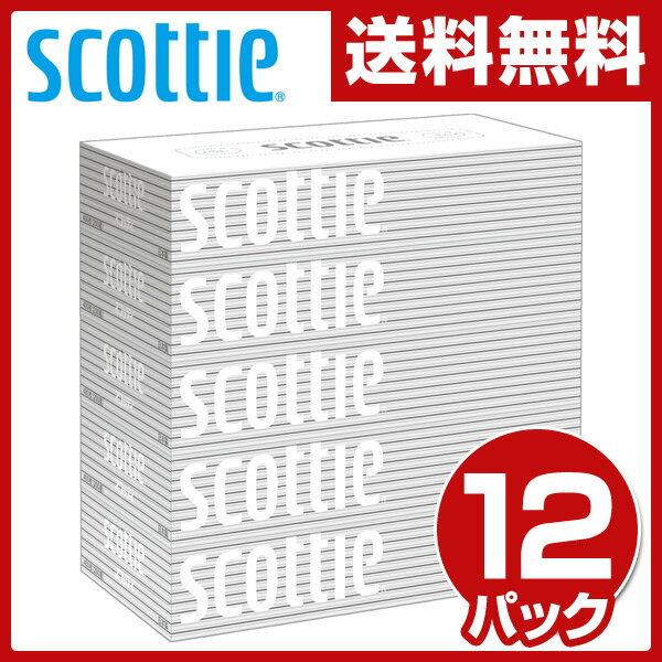 【あす楽】 日本製紙クレシア スコッティ (SCOTTIE) ティッシュペーパー 200組5箱×12パック(60箱) 41735 ティシュペーパー まとめ買い ケース販売 ボックスティッシュ 日用品 【送料無料】