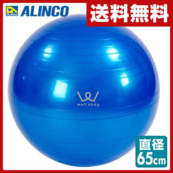 アルインコ(ALINCO) エクササイズボール(65cm) エアポンプ付 EXG025A バランスボール ヨガボール バランス運動 ストレッチ運動 【送料無料】