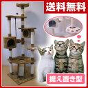 常陸化工 キャットタワー ステップ&ウォッチDX (据え置き) ホワイト/ブラウン キャットツリー 猫 ネコ ねこ キャット…