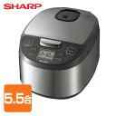 シャープ(SHARP) 炊飯器 (5.5合) KS-S10J(S) シルバー系 マイコン炊飯器 マイコン炊飯ジャー 炊飯ジャー マイコン式炊…
