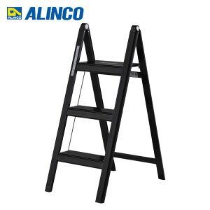 薄型踏み台3段(ブラックアルマイト加工) SS80B ブラック 踏み台 踏み台昇降 はしご ステップ台 脚立 アルミ 3段 アルインコ ALINCO【送料無料】