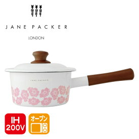 ジェーン・パッカー(JANE PACKER) 片手鍋 16cmIH対応 オーブン対応 A-76715 ジェーンパッカー ブランド おしゃれ 鍋 ほうろう 琺瑯 調理道具 ホーロー アーネスト 【送料無料】