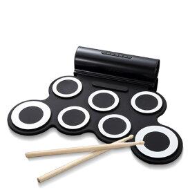 ロールアップドラム 電子ドラム (スピーカー内蔵)フットペダル/ドラムスティック付属 SMALY-DORAM-1 ドラム 楽器 練習 バスドラム 音楽 演奏 携帯式 スマリー(SMALY) 【送料無料】