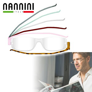 (NANNINI)ナンニーニ 折りたたみ老眼鏡 コンパクトグラス2(度数+1.0/+1.5/+2.0/+2.5/+3.0) 折りたたみ コンパクトグラス 老眼鏡 おしゃれ 眼鏡 めがね メガネ 男性 女性 サイモン 【送料無料】