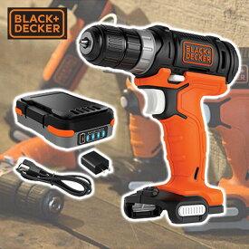 GoPak 10.8V ドリルドライバー (充電池/ACアダプター付き) BDCDD12US1 ドライバードリル ドリルドライバ 10.8V 電動 ブラックアンドデッカー(BLACK&DECKER) 【送料無料】