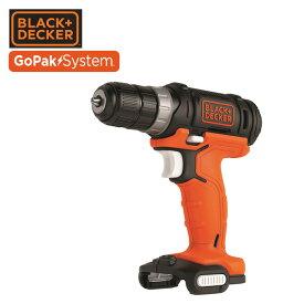 GoPak 10.8V ドリルドライバー (本体のみ) BDCDD12UB ドライバードリル ドリルドライバ 10.8V 電動 ブラックアンドデッカー(BLACK&DECKER) 【送料無料】