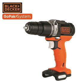 GoPak 10.8V 振動ドリルドライバー (本体のみ) BDCHD12UB ドライバードリル 充電振動ドリルドライバー 10.8V ブラックアンドデッカー(BLACK&DECKER) 【送料無料】【あす楽】