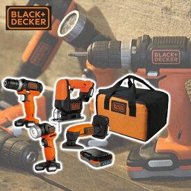 GoPak プロジェクトパック 5点セット (ドリルドライバー/ジグソー/サンダー/LEDライト/充電池) BDCK124S1S ドリルドライバー ジグソー ブラックアンドデッカー(BLACK&DECKER) 【送料無料】