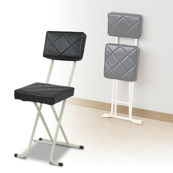 折りたたみチェア(背もたれ付) YZX-56(BK) ブラック パイプチェア 折り畳みチェア 折畳 折畳み 椅子 イス いす チェアー 選挙 山善 YAMAZEN【送料無料】
