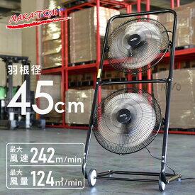 45cmツインファン TF-45V 工場扇風機 せんぷうき サーキュレーター ナカトミ(NAKATOMI) 【送料無料】【あす楽】
