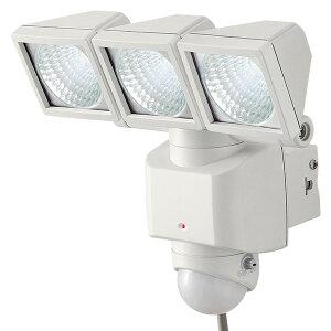 センサーライト/LED 3灯/AC電源/屋内外 DLA-3T400 ホワイト LEDセンサーライト 防犯ライト センサー付ライト 人感センサー 大進(ダイシン) 【送料無料】