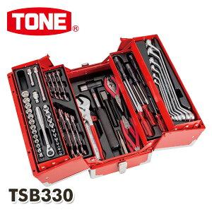 ツールセット 差込角9.5mm 内容65点 TSB330 工具箱 工具ボックス ツールボックス 工具BOX 工具入れ 工具ケース ツールBOX 道具箱 ツールチェスト TONE 【送料無料】
