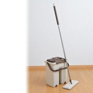 洗って絞れるお掃除セット アラシーボ A-76917 モップ モップ絞り 水拭き 掃除 バケツ モップ絞り器 フローリング 畳 回転モップ 水拭きモップ フロアモップ 雑巾ワイパー ワイパー 雑巾掛け