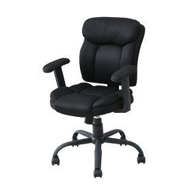 クッションの厚い パソコンチェア MPM-53M(BK) ブラック チェア チェアー パソコンチェア オフィスチェア ワークチェア 椅子 イス デスクチェア 山善(YAMAZEN) 【送料無料】