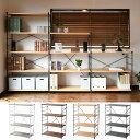 ラック 木製 棚板 (幅85.5 奥行41.5 高さ123.5 cm) 4段 ウッドシェルフ スチールシェルフ スチールラック ワイヤーラ…