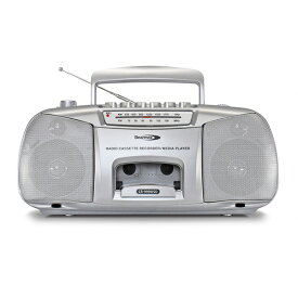 ポータブル ラジカセ デジカ CR-999USD シルバー AM/FM ワイドFM対応 MP3(USB/SD)再生対応 2WAY電源(コンセント/乾電池) クマザキエイム 【送料無料】