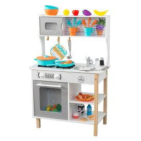 初めてのキッチン 木製 おままごと 53370 ごっこ遊び おままごと ままごと ままごとセット 知育玩具 玩具 おもちゃ 赤ちゃん ベビー キッチン フライパン 台所 木のおもちゃ キッドクラフト KidKraft 【送料無料】