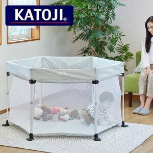 ポータブル折りたたみ ベビーサークル コロコロランド6(147×147cm) 63023 赤ちゃん ベビー サークル ベビーサークル 畳める 折りたたみ コンパクト ベビーゲージ プレイヤード 軽量 洗える KATOJI
