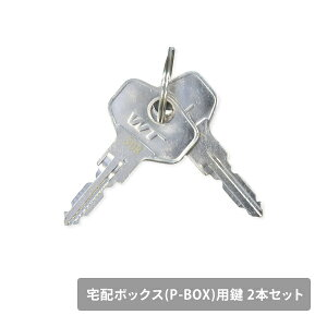 宅配ボックス(P-BOX)用 鍵 2本セット ※お手持ちの宅配ボックスの鍵ナンバーをご確認ください 山善 YAMAZEN ガーデンマスター 【送料無料】