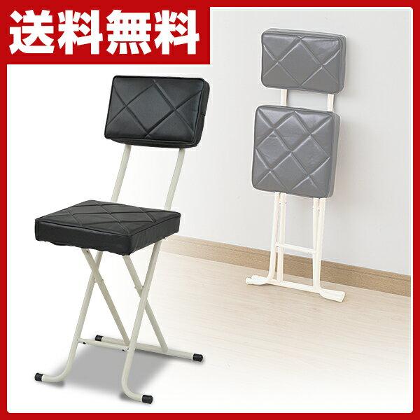 【3%OFFクーポン 6/25 9:59まで】 山善(YAMAZEN) 折りたたみチェア(背もたれ付) YZX-56(BK) ブラック パイプチェア 折り畳みチェア 折畳 折畳み 椅子 イス いす チェアー 選挙 【送料無料】