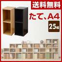山善(YAMAZEN) カラーボックス A4 2段 幅25 高さ74 CAB-7525 たてA4 すき間収納 すきま 隙間 収納ボックス 収納ラック 組み合わせ...