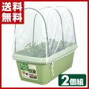 グリーンパル(GREENPAL) 菜園プランター720&支柱・防虫ネットセット(2個組) GP-66 グリーン プランター 害虫 家庭菜…