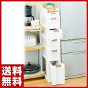 Purecle(ピュアクル) すき間収納ボックス(幅24)6段 GP-05 ホワイト キッチンラック キッチンストッカー 収納 【送料無料】