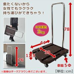 山善(YAMAZEN)自立式折りたたみ台車CarryおてがるOTG-E50