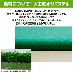 エンプレイス(nplace)パター練習マット「GoodPat」(30cm×3m)3way専用ホールカップ付GPM-W30