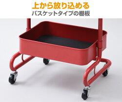 山善(YAMAZEN)バスケットトローリーLBTA-3スチールラックキャスター付き工具箱キッチンワゴンバスケットワゴンキッチンラックモノトーンキッチン収納おしゃれおもちゃ箱