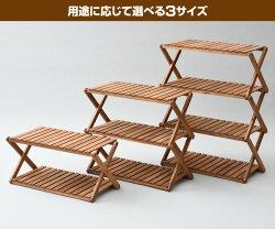山善(YAMAZEN)木製3段ラックワイドA3R-01W