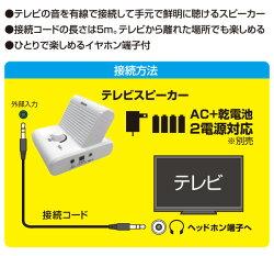 山善(YAMAZEN)キュリオム有線手元スピーカーボリュームダイヤル搭載5mYTS-30ホワイト