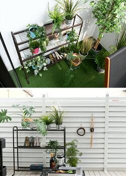 山善(YAMAZEN)ガーデンマスタープランターラック3段(幅94-170cm)YPR-903ガーデンラックフラワースタンドスチールラックフラワーラック【送料無料】