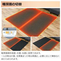 山善(YAMAZEN)空気をキレイにするホットカーペット本体(2畳タイプ)小さく折りたためるタイプ(16折り)SUS-201