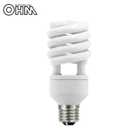 OHM 電球形蛍光灯 スパイラル形 E26 100形相当 電球色 エコデンキュウ 2個入 EFD25EL/18-SP-2P