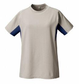PUROMONTE(プロモンテ)アウトドアTシャツトリプルドライカラット ライトウェイト 半袖Tシャツ (ウィメンズ)TN155Wグレー/ネイビー