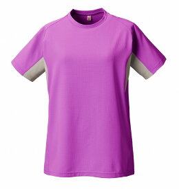 PUROMONTE(プロモンテ)アウトドアTシャツトリプルドライカラット ライトウェイト 半袖Tシャツ (ウィメンズ)TN155Wピンク/グレー