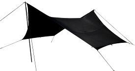 【15日限定P最大10倍】Canadian East(カナディアンイースト)フィールドタープヘキサST ブラック ペグ・張綱・ハンマー・収納袋付属 Field Tarp Hexa ST BLACK ヘキサ型 タープ キャンプ バーベキュー BBQ アウトドアCETO1020BLK