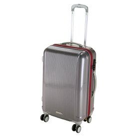 CAPTAIN STAG(キャプテンスタッグ)アウトドアグレル トラベルスーツケース(TSAロック付ダブルファスナータイプ)〈M〉(スチールグレー)UV0029