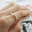 連パールのスクリューフォークリング大人可愛い リング 指輪 プレゼント 記念日 誕生日 クリスマス ホワイトデー 母の日 ギフトラッピング レディース パール