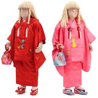 3歳お祝い着物★カントリーガールなピンク