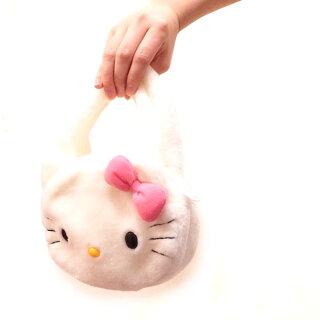 ★希少なデッドストック★HELLOKITTYのもこもの手提げバッグ★みんな大好きキティちゃん