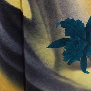 【正絹】【新品】訪問着★単品販売★砂漠の風に一輪の花★