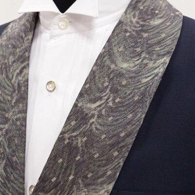 【中古】タキシードセット★ジャケット・パンツ★グレーのショートダブル★側章付きパンツでスラリ★ワイシャツが首周り37cm〜44cmで選べます★