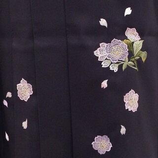 卒業式に二尺袖着物袴6点セット販売身長約155から160cm手毬と桜の大人なグラデーションパープル【中古】
