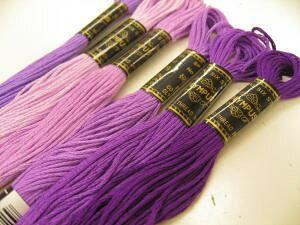 オリムパス ししゅう糸(9*パープル系)刺繍糸*刺しゅう糸【同色3本以上はお取り寄せの場合がございます。ご了承くださいませ】