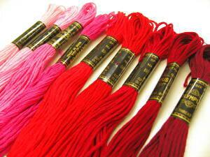 オリムパス ししゅう糸(1*赤系)*刺繍糸刺しゅう糸【同色3本以上はお取り寄せの場合がございます。ご了承くださいませ】