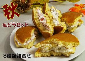 生どら焼き秋セット 栗 スイートポテト いちごの詰合せ